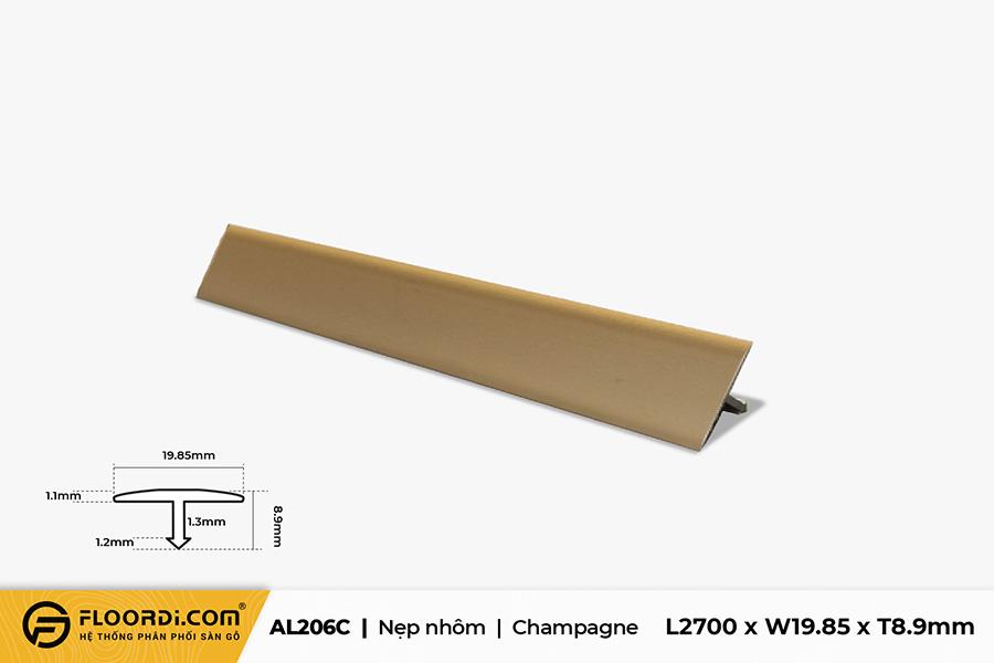 Nẹp nhôm nối sàn AL206C – Champagne