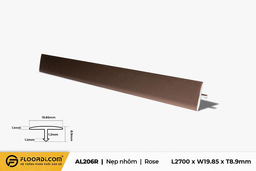 Nẹp nhôm nối sàn AL206R – Rose