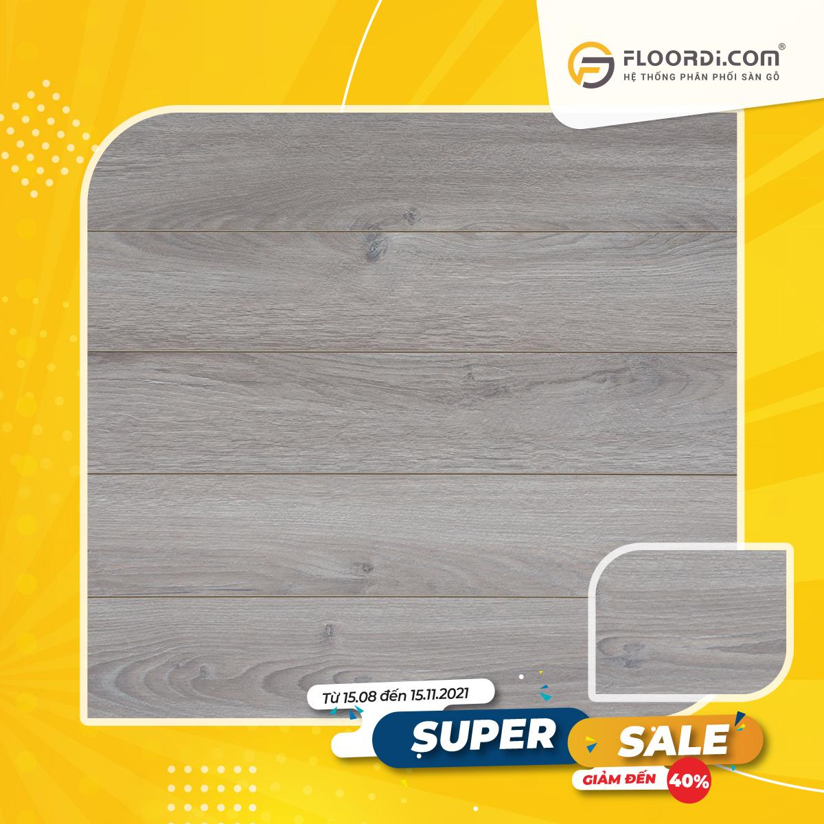 Sàn gỗ Lamton D3032 Ultra Grey – 12mm – AC3