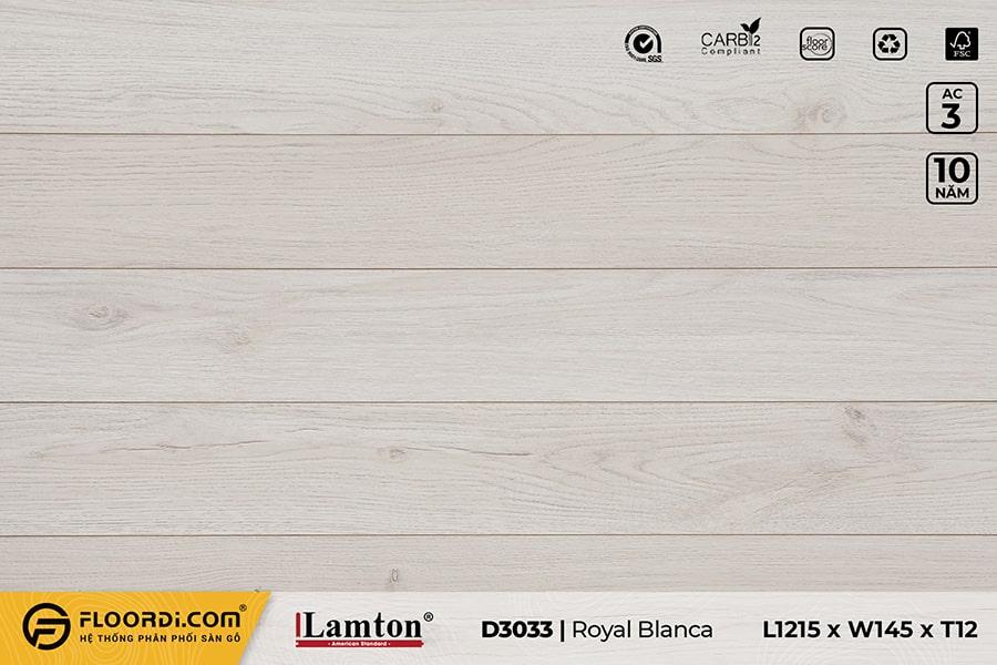 Sàn gỗ Lamton D3033 Royal Blanca – 12mm – AC3