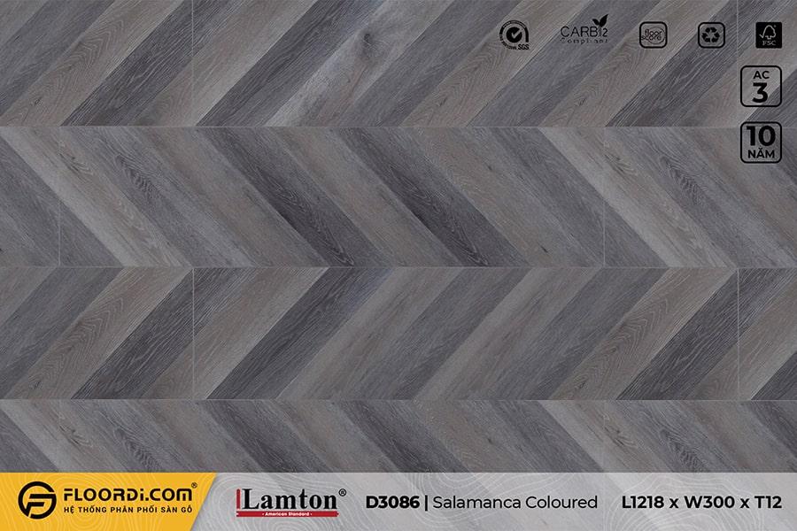 Sàn gỗ xương cá Lamton D3086 Salamanca Coloured Chevron – 12mm – AC3