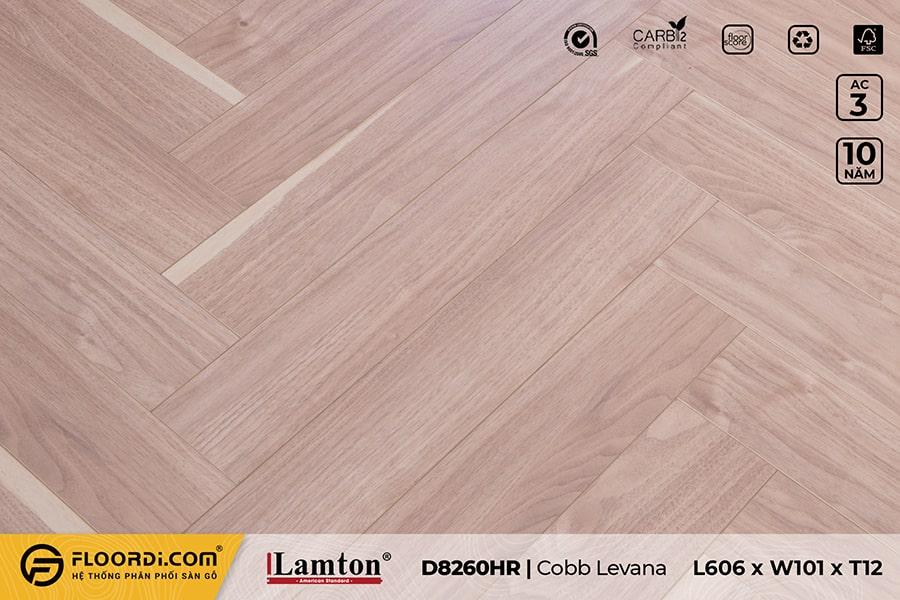 Sàn gỗ xương cá Lamton D8260HR Cobb Levana – 12mm – AC3