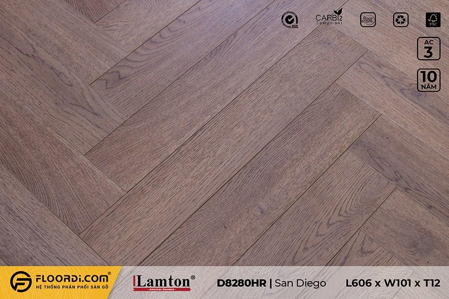 Sàn gỗ xương cá Lamton D8280HR San Diego – 12mm – AC3