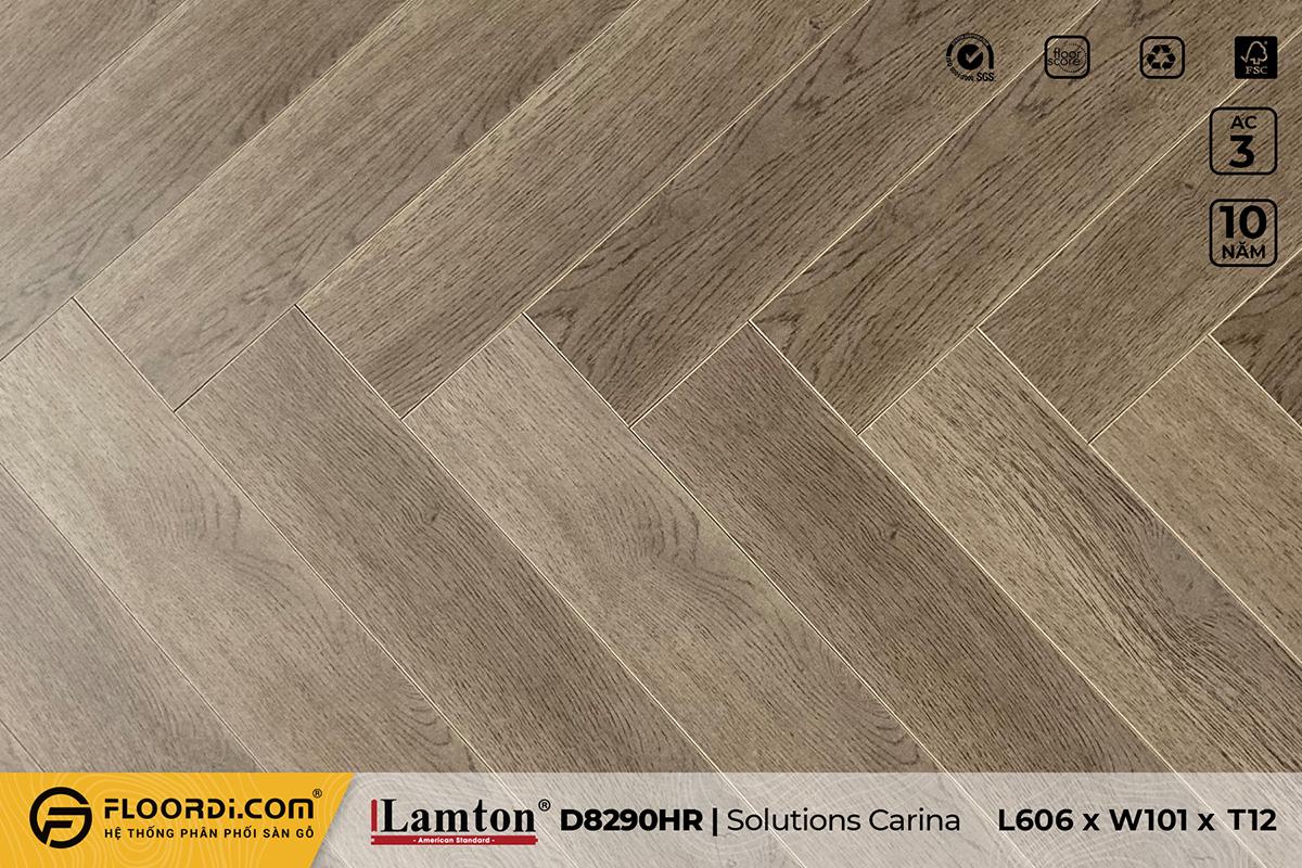 Sàn gỗ xương cá Lamton D8290HR Solutions Carina – 12mm – AC3