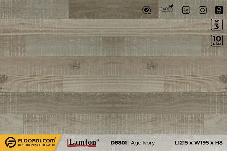 Sàn gỗ Lamton D8801 Aged Ivory 8mm – AC3