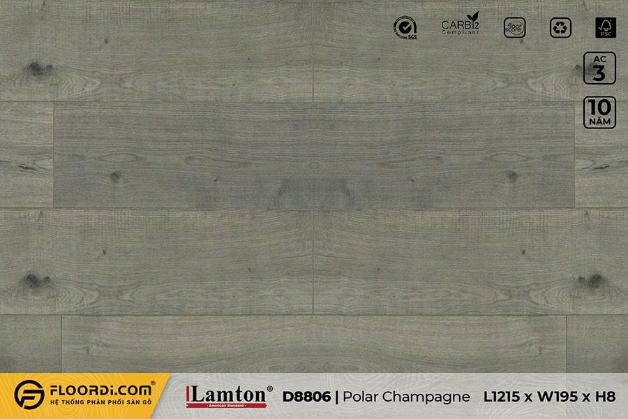 Sàn gỗ Lamton D8806 Polar Champagne – 8mm – AC3