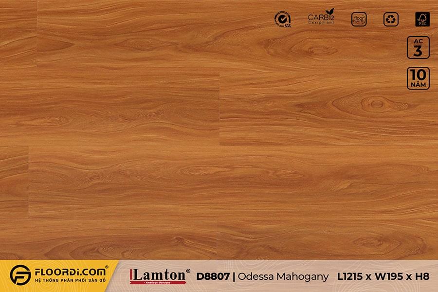Sàn gỗ Lamton D8807 Odessa Mahogany 8mm – AC3