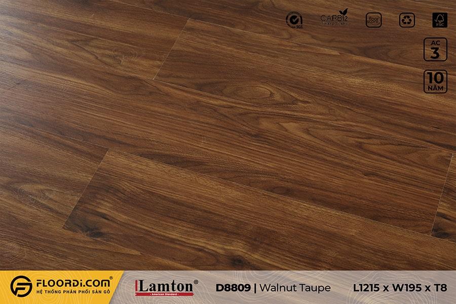 Sàn gỗ Lamton D8809 Walnut Taupe 8mm – AC3