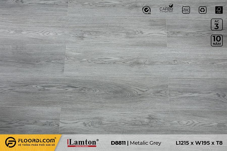 Sàn gỗ Lamton D8811 Metalic Grey – 8mm – AC3