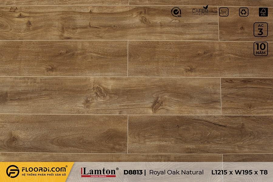 Sàn gỗ Lamton D8813 Royal Oak Natural – 8mm – AC3