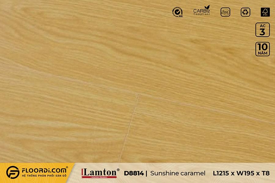Sàn gỗ Lamton D8814 Sunshine caramel – 8mm – AC3