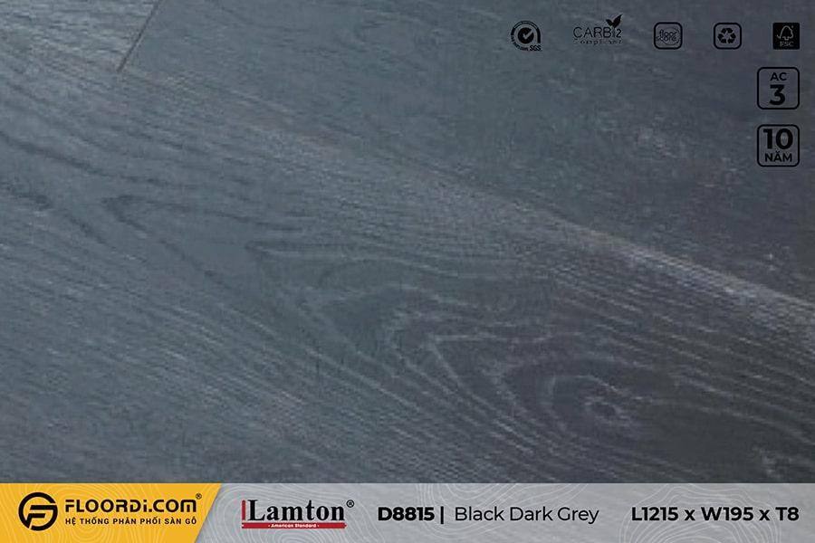 Sàn gỗ Lamton D8815 Black Dark Grey – 8mm – AC3