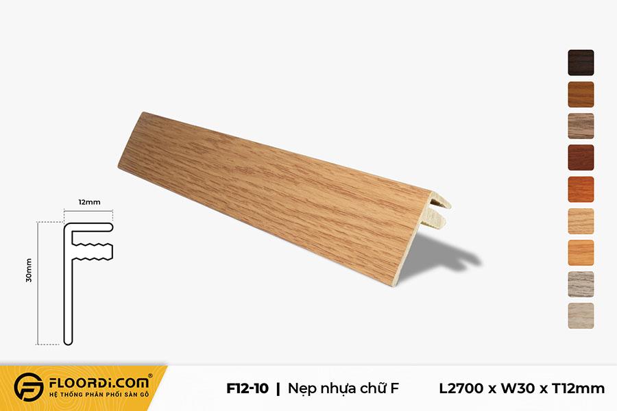 Nẹp nhựa F kết thúc sàn F12-10