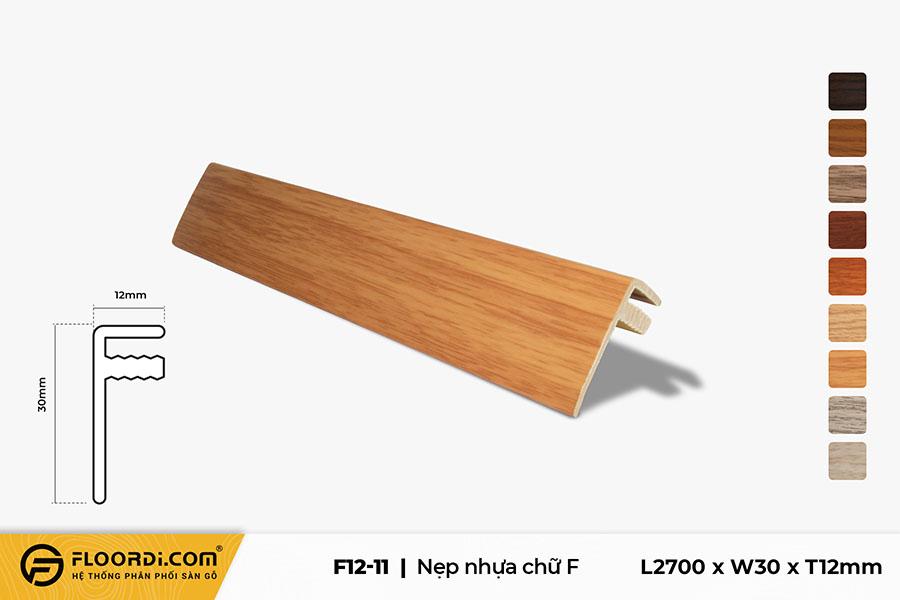 Nẹp nhựa F kết thúc sàn F12-11
