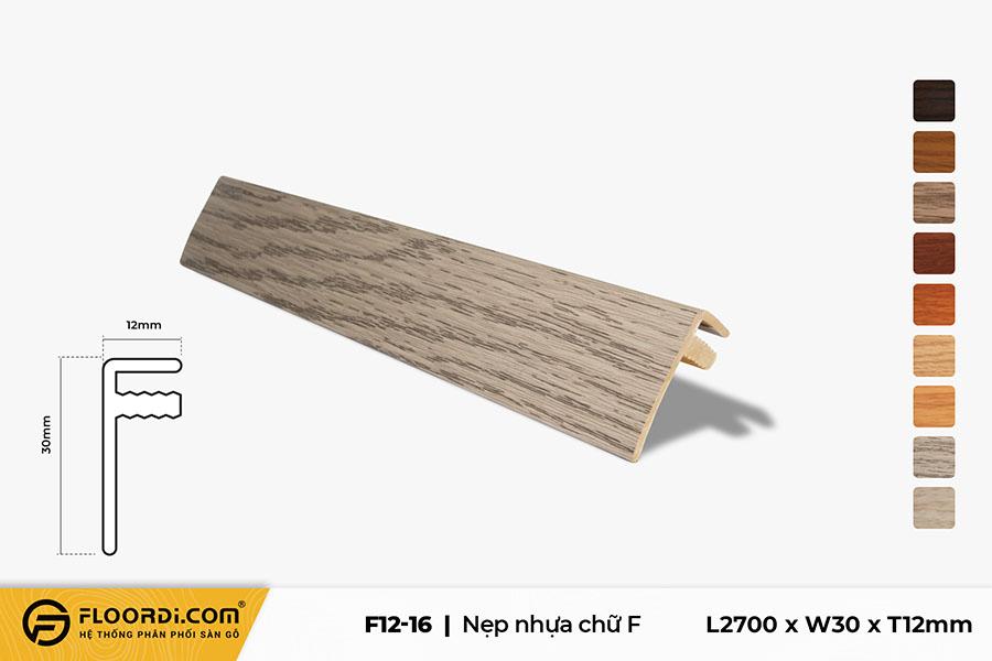 Nẹp nhựa F kết thúc sàn F12-16