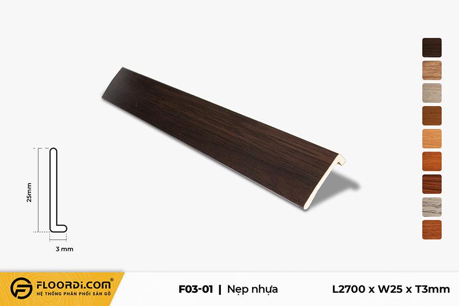 Nẹp kết thúc sàn nhựa F3-01