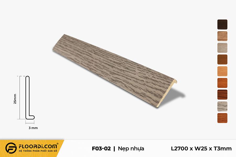 Nẹp kết thúc sàn nhựa F3-02