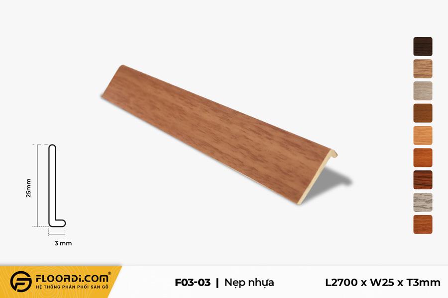 Nẹp kết thúc sàn nhựa F3-03