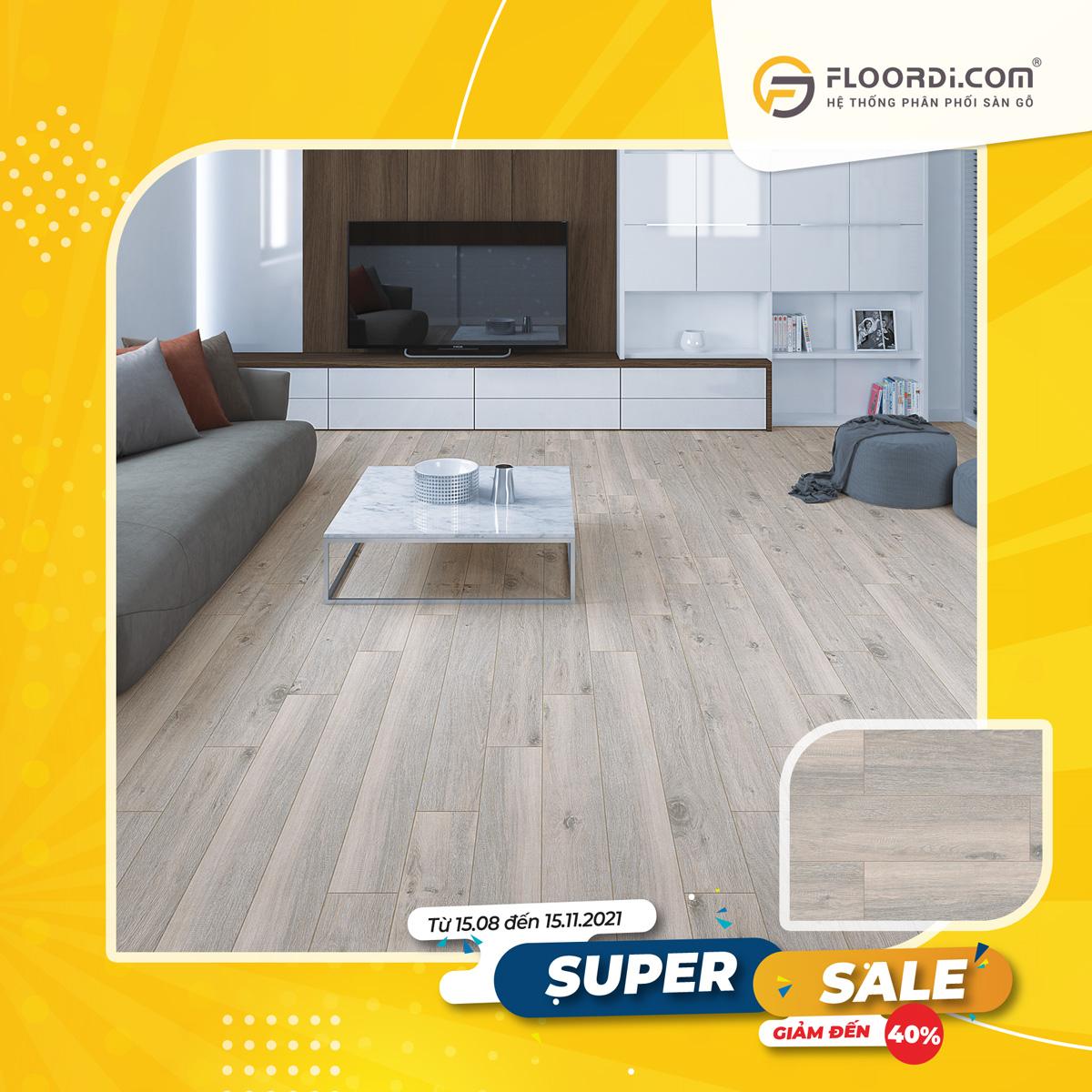 Sàn gỗ Floorpan SF101 Magaluf Oak – 12mm – AC5