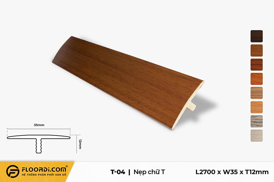 Nẹp nhựa T nối sàn T-04