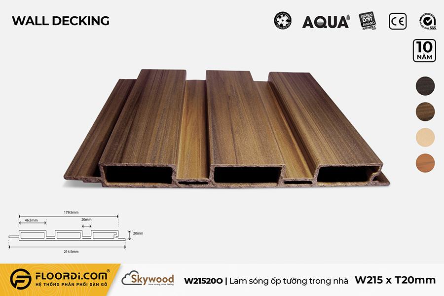 Lam sóng ốp tường, ốp trần trong nhà W21520O
