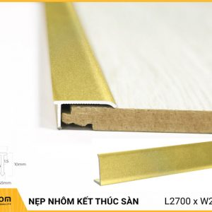 Nẹp nhôm kết thúc sàn AL207G - Gold