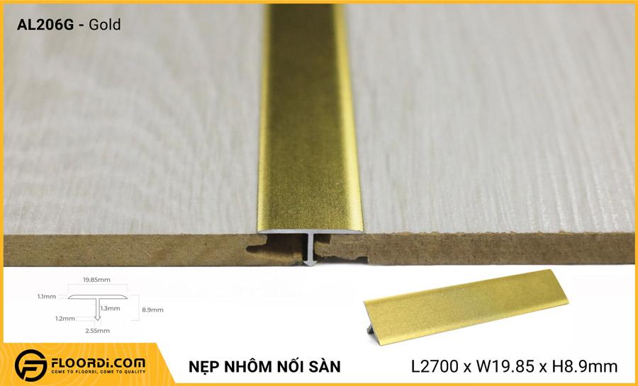 Nẹp nhôm nối sàn AL206G – Gold