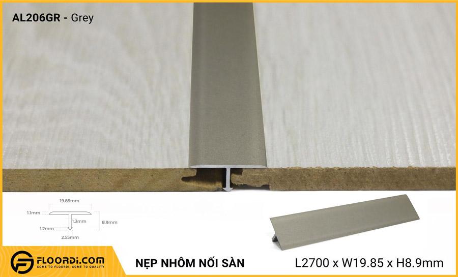 Nẹp nhôm nối sàn AL206GR – Grey