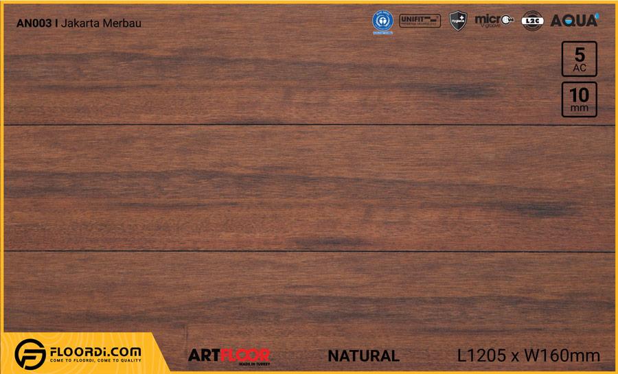 Sàn gỗ Artfloor AN003 – Jakarta Merbau – 10mm – AC5