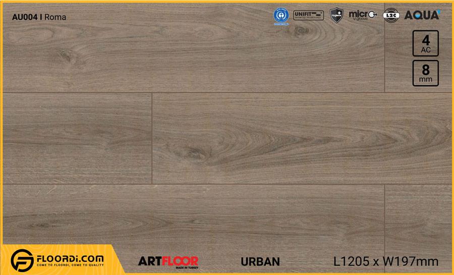 Sàn gỗ Artfloor AU004 – Urban – Roma – 8mm – AC4