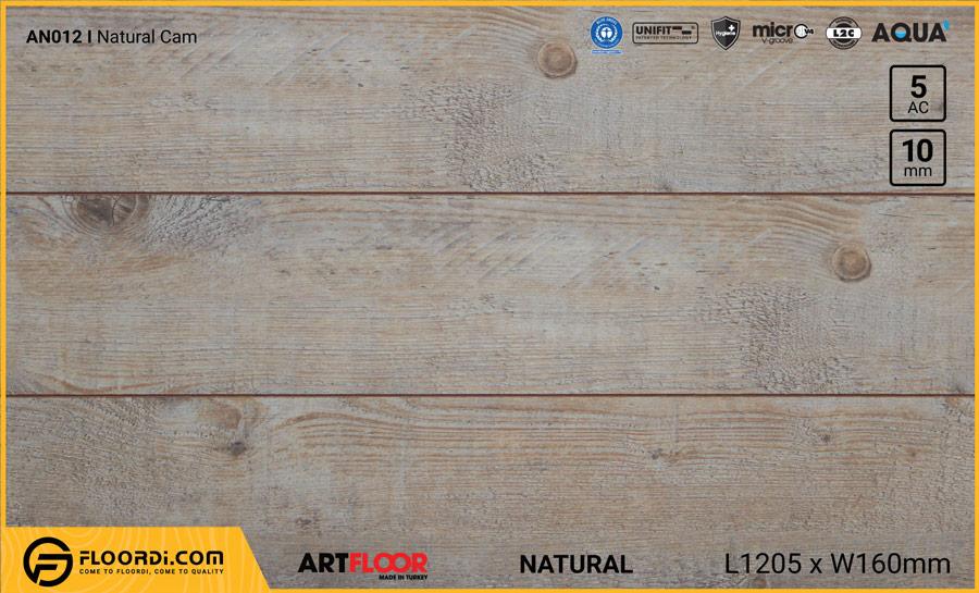 Sàn gỗ Artfloor AN012 – Natural Cam – 10mm – AC5