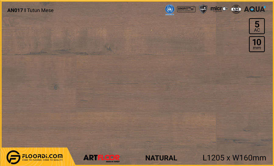 Sàn gỗ Artfloor AN017 – Tutun Mese – 10mm – AC5