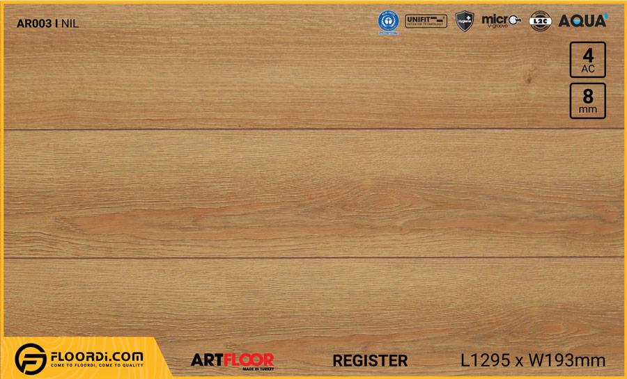 Sàn gỗ Artfloor AR003 – NIL – Register – 8mm – AC4