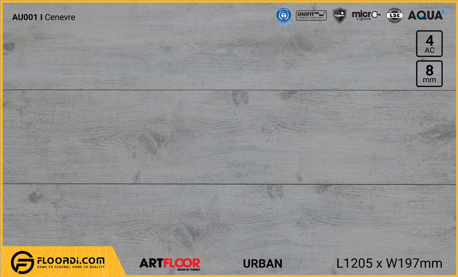 Sàn gỗ Artfloor AU001 – Urban – Cenevre – 8mm – AC4
