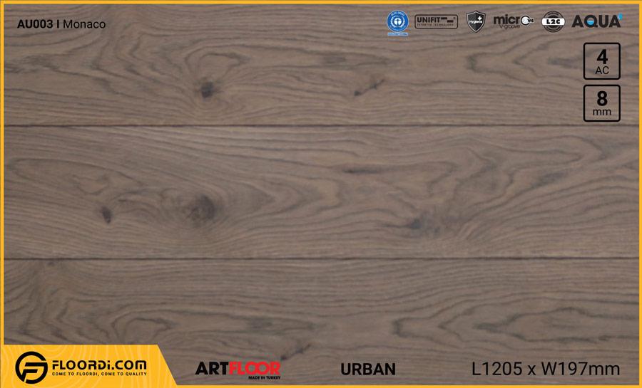 Sàn gỗ Artfloor AU003 – Urban – Monaco – 8mm – AC4