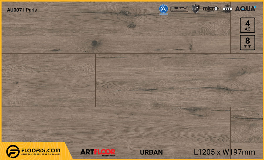 Sàn gỗ Artfloor AU007 – Urban – Paris – 8mm – AC4