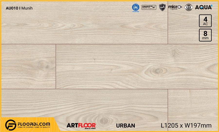 Sàn gỗ Artfloor AU010 – Urban – Munih – 8mm – AC4