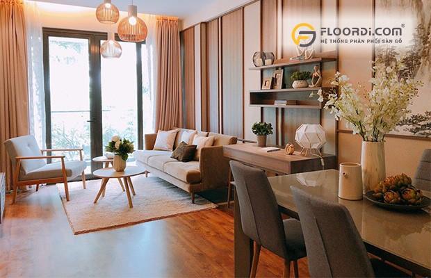 Sàn gỗ sở hữu cốt gỗ Tropical Hardwood mang lại vẻ đẹp chân thực cho mọi không gian