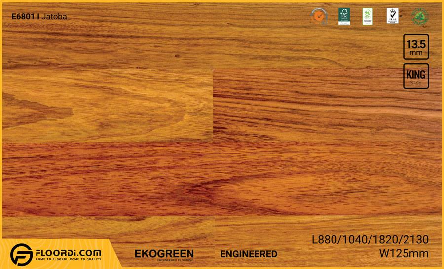 Sàn gỗ Engineered Ekogreen E6801 Jatoba – 13.5mm