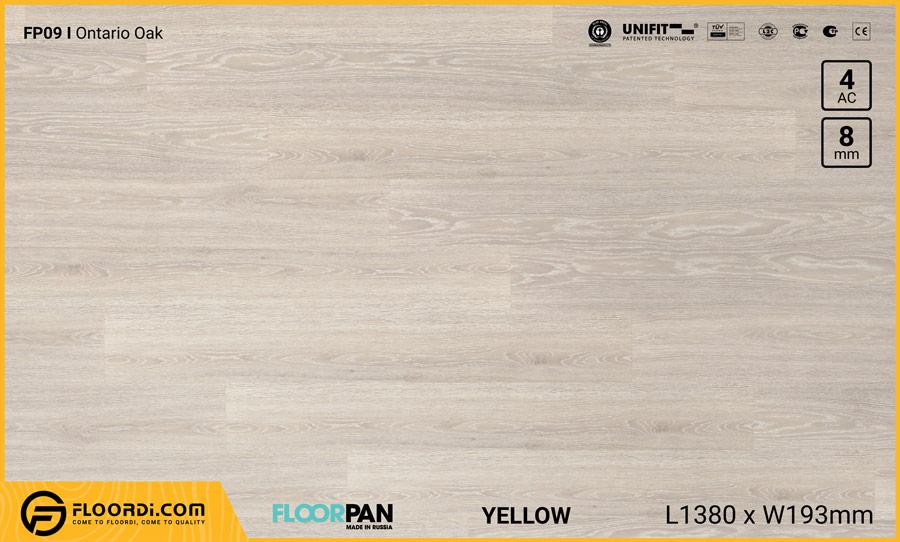 Sàn gỗ Floorpan FP09 Ontario Oak – 8mm – AC5