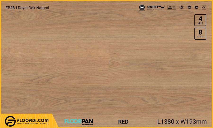 Sàn gỗ Floorpan FP28 Royal Oak Natural – 8mm – AC4