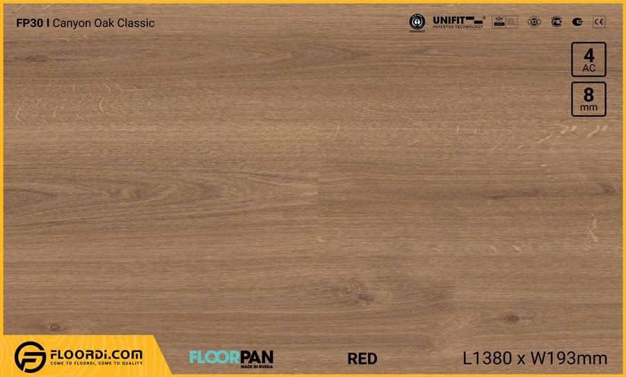 Sàn gỗ Floorpan FP30 Canyon Oak Classic – 8mm – AC4