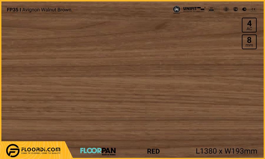 Sàn gỗ Floorpan FP35 Avignon Walnut Brown – 8mm – AC4