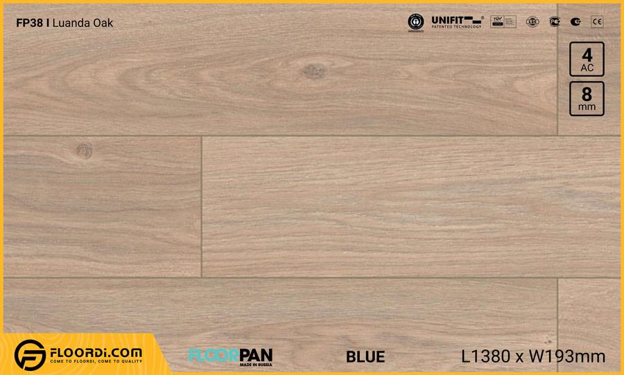 Sàn gỗ Floorpan FP38 Luanda Oak – 8mm – AC4