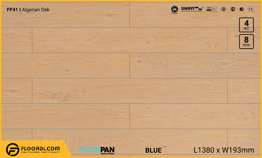 Sàn gỗ Floorpan FP41 Algerian Oak – 8mm – AC4