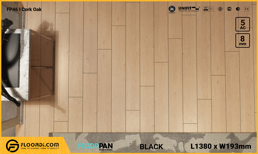 Sàn gỗ Floorpan FP46 Cork Oak – 8mm – AC5