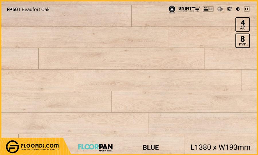Sàn gỗ Floorpan FP50 Beaufort Oak – 8mm – AC4