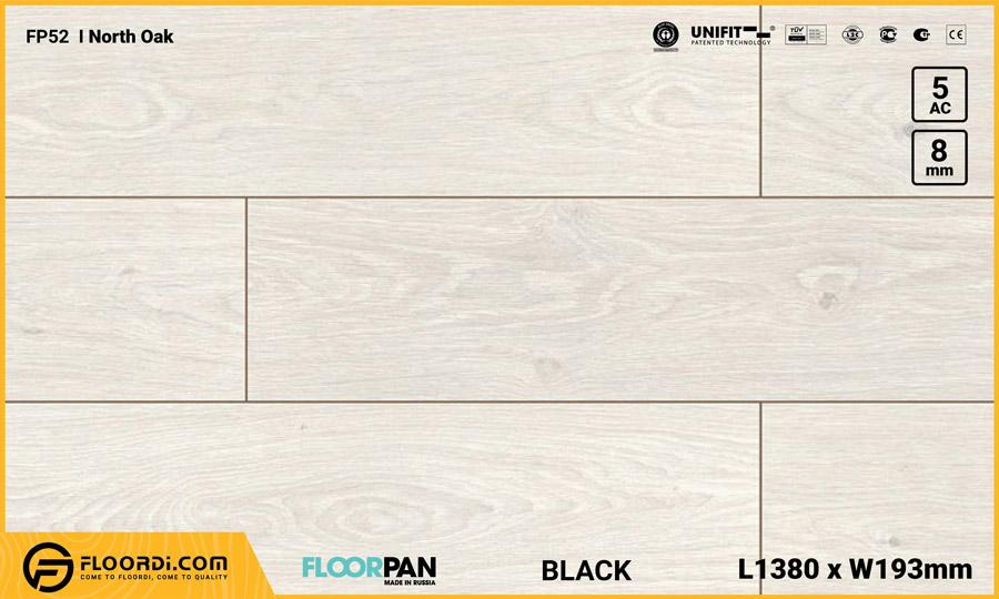 Sàn gỗ Floorpan FP52 North Oak – 8mm – AC5