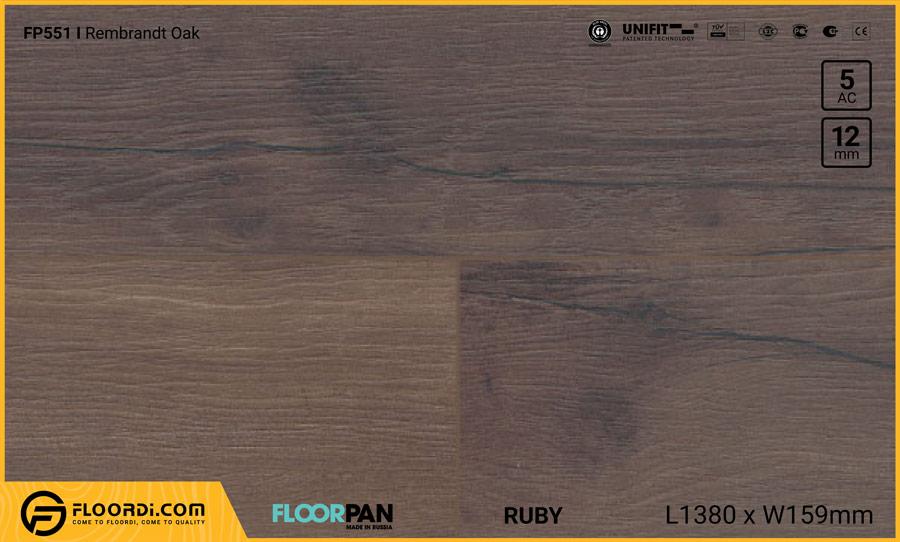 Sàn gỗ Floorpan FP551 Rembrandt Oak – 12mm – AC5