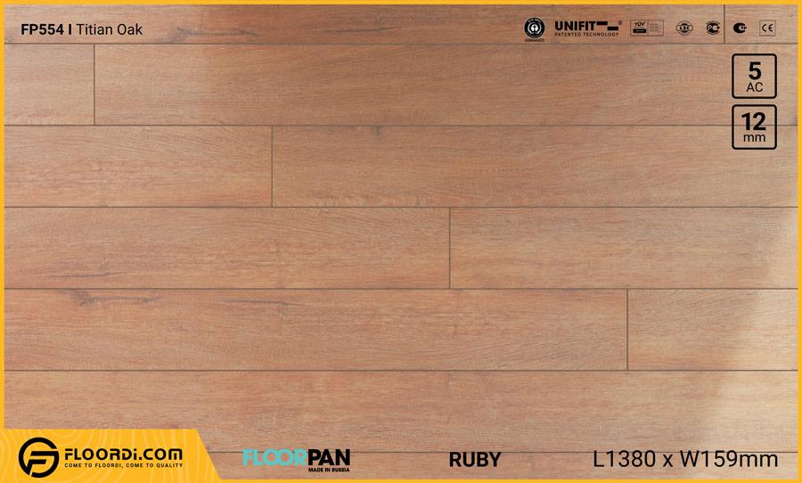 Sàn gỗ Floorpan FP554 Titian Oak – 12mm – AC5